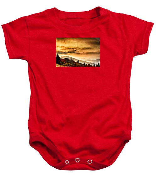 Allegheny Mountain Sunrise #33 Baby Onesie