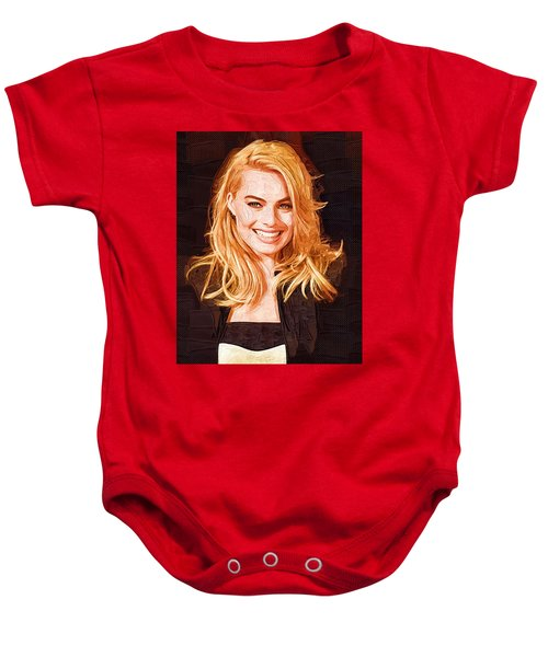 Margot Robbie Painting Baby Onesie