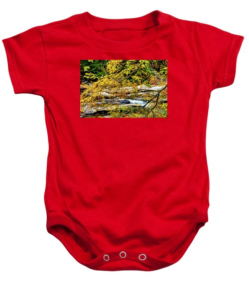 Autumn Middle Fork River Baby Onesie