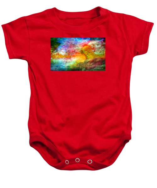5a Abstract Expressionism Digital Painting Baby Onesie