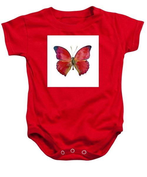 83 Red Glider Butterfly Baby Onesie