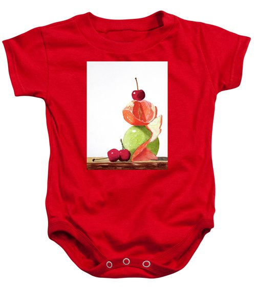 A Balanced Meal Baby Onesie