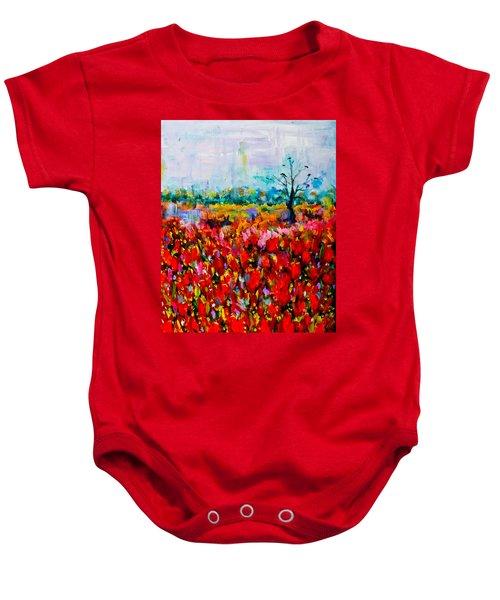 A Field Of Flowers # 2 Baby Onesie