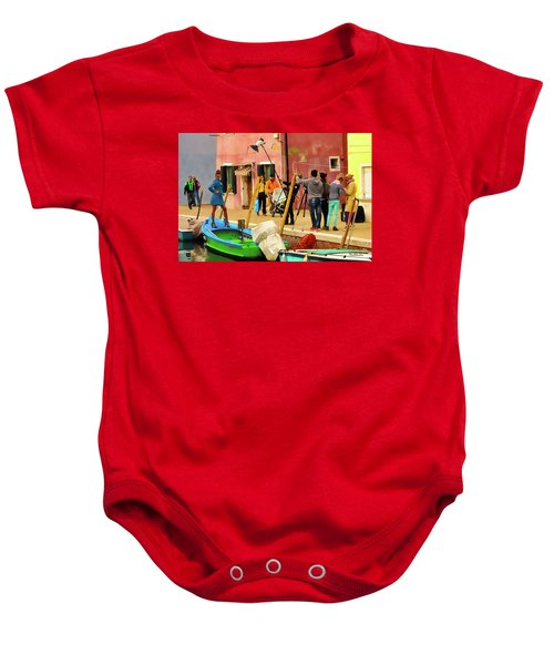 A Glamour Shoot In Burano Baby Onesie