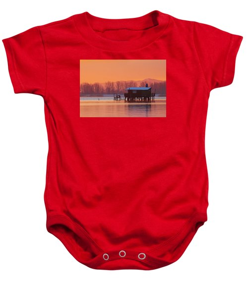 A Hut On The Water Baby Onesie