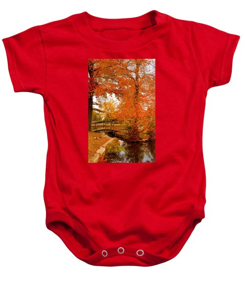 A Morning In Autumn - Lake Carasaljo Baby Onesie