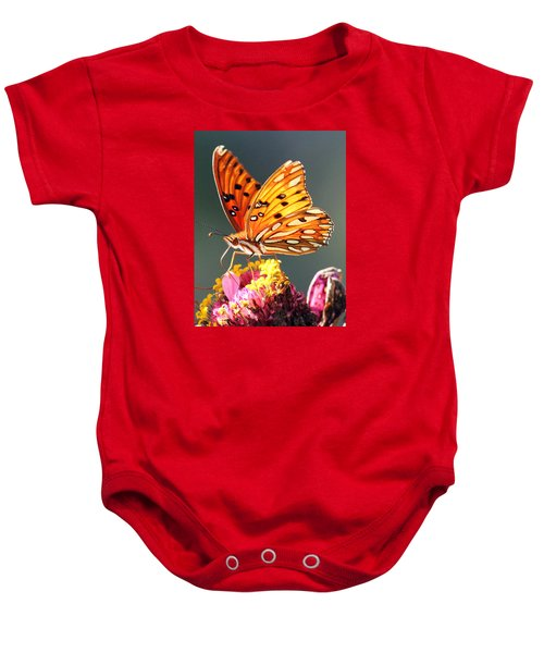 A Troubled Zinnia Baby Onesie