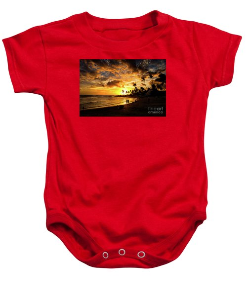 A Walk On The Beach Baby Onesie
