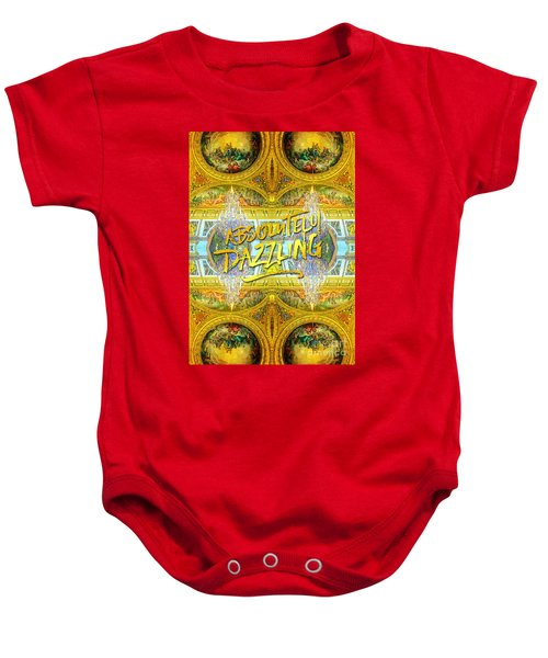 Absolutely Dazzling Hall Of Mirrors Versailles Palace Paris Baby Onesie