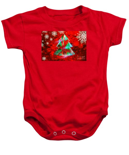 Abstract Christmas Bright Baby Onesie