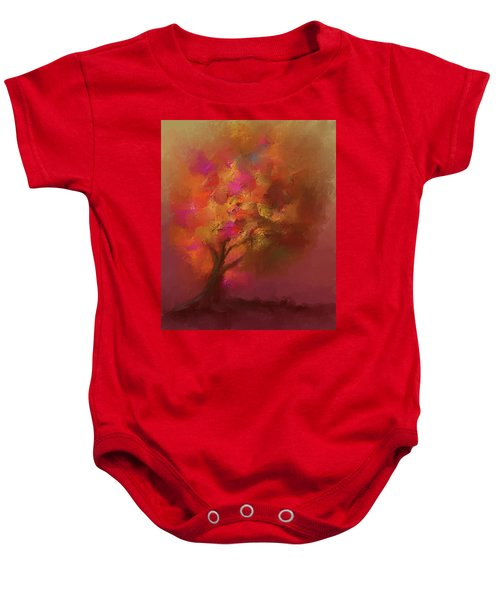 Abstract Colourful Tree Baby Onesie