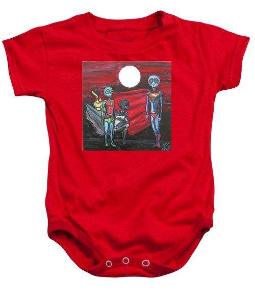 Alien Superheros Baby Onesie