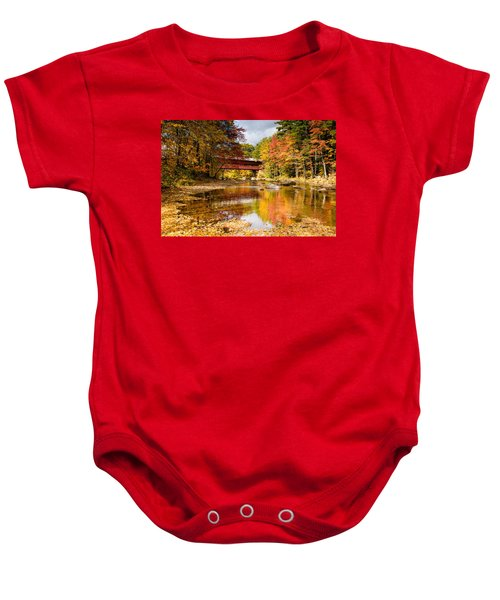 Along The Swift River Baby Onesie