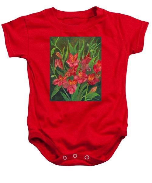 Alstroemeria Baby Onesie