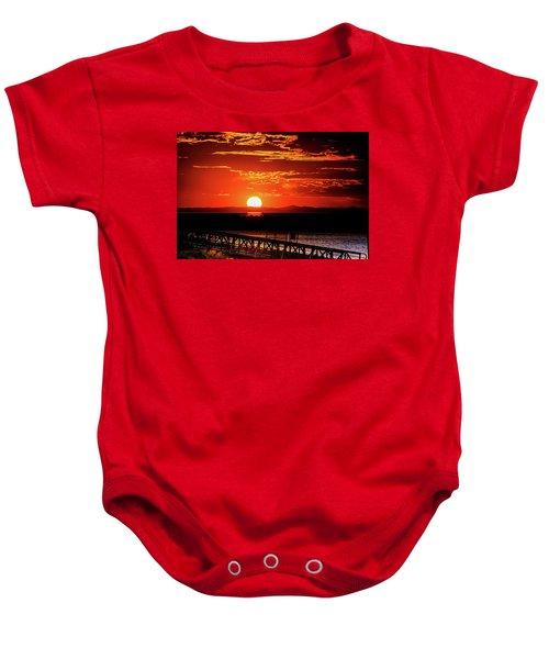 Antelope Island Marina Sunset Baby Onesie