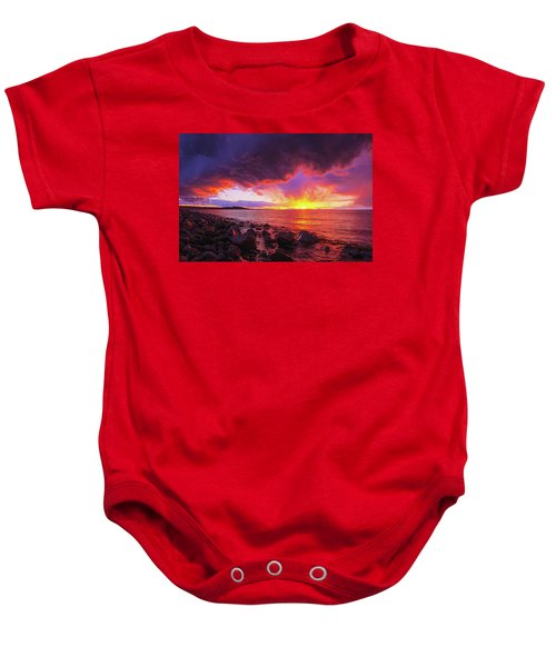 Antelope Island Sunset Baby Onesie