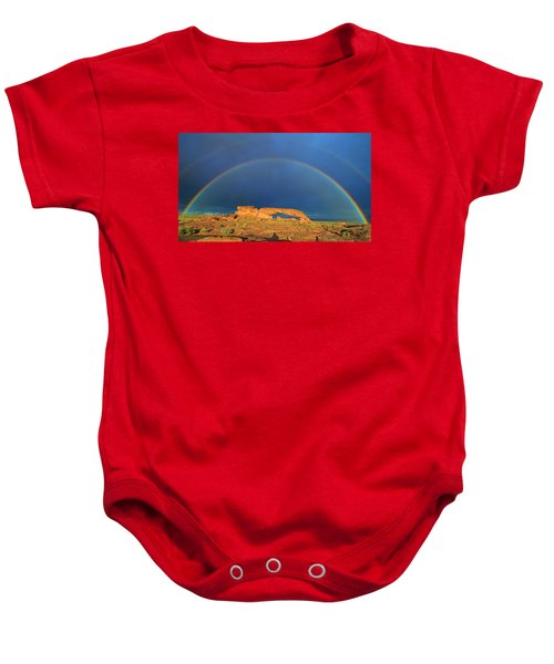 Arching Over Baby Onesie