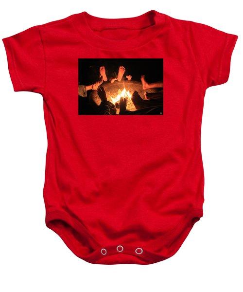 Around The Fireplace Baby Onesie