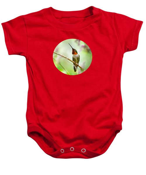 Hummingbird Looking For Love Baby Onesie