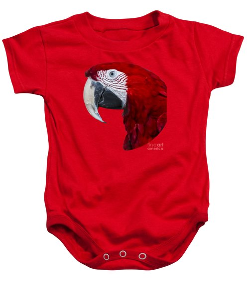 Red Macaw Baby Onesie by Mark Myhaver