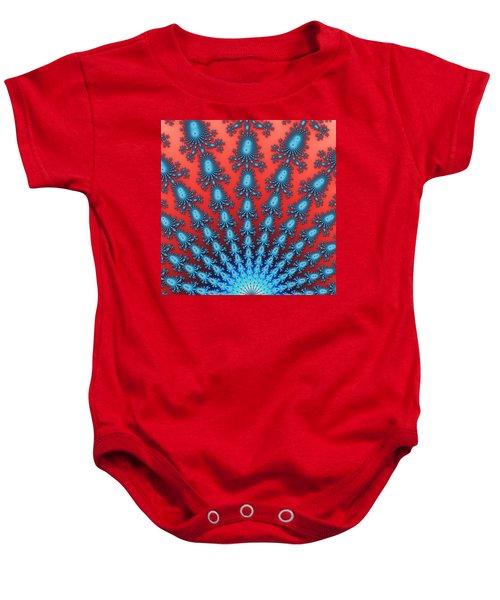 Fractal Starburst Baby Onesie