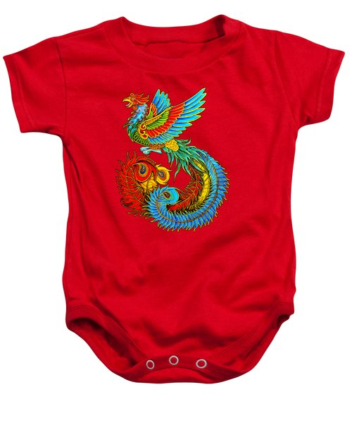 Fenghuang Chinese Phoenix Baby Onesie by Rebecca Wang