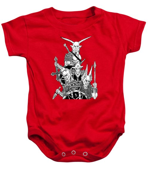 The Infernal Army White Version Baby Onesie by Alaric Barca