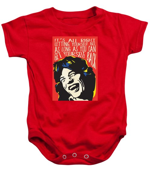 Mick Jagger Pop Art Quote Baby Onesie