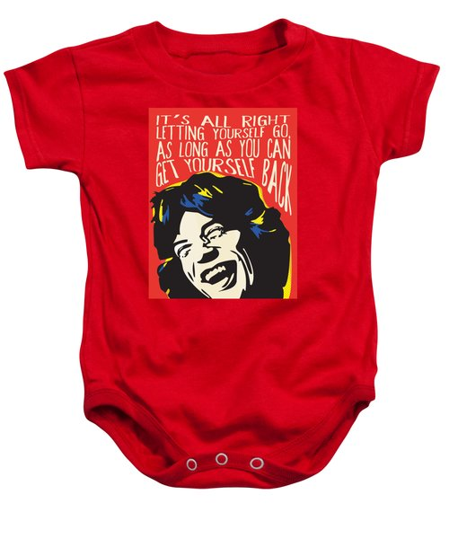 Mick Jagger Pop Art Quote Baby Onesie
