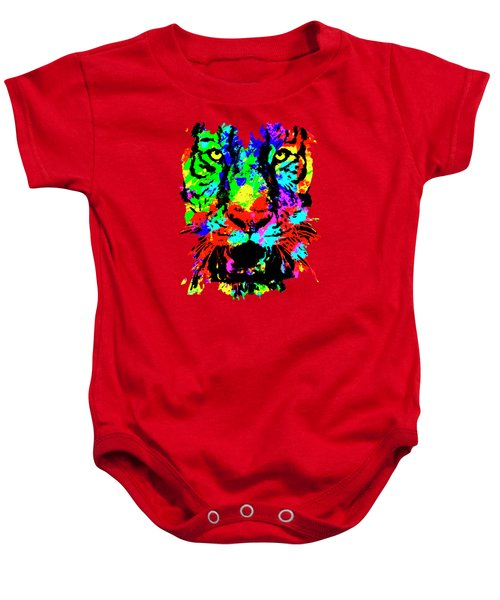 Colored Tiger Baby Onesie