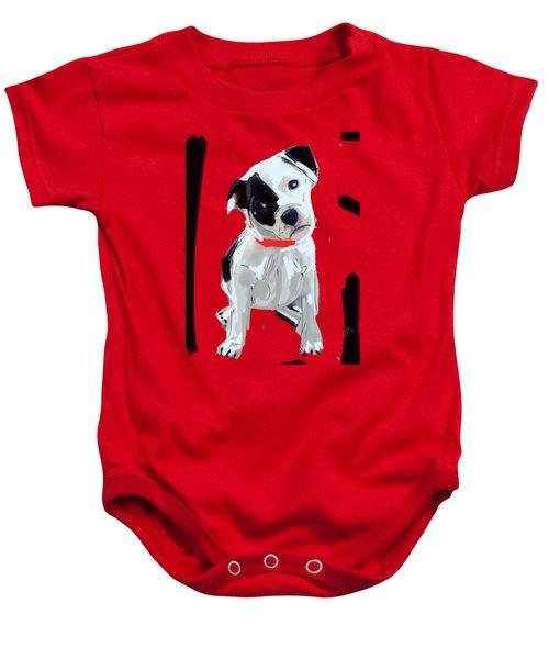 Dog Doggie Red Baby Onesie