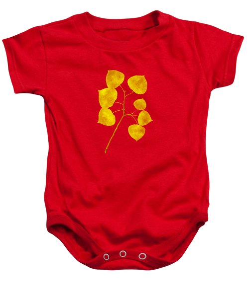 Baby Onesie featuring the photograph Aspen Tree Leaf Art by Christina Rollo