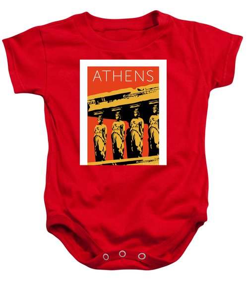 Athens Erechtheum Orange Baby Onesie