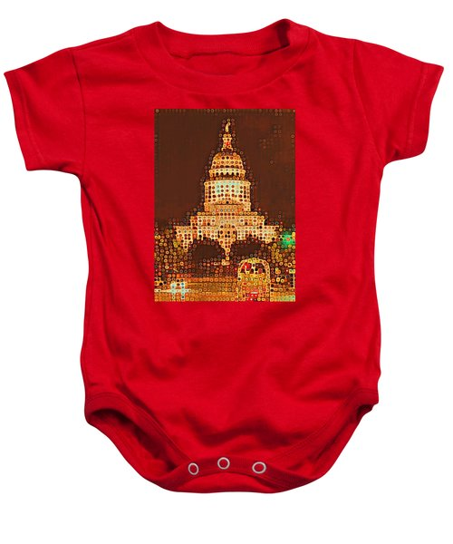 Austin Capitol At Night Baby Onesie