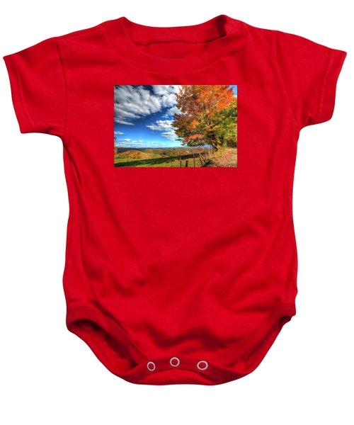 Autumn On The Windfall Baby Onesie