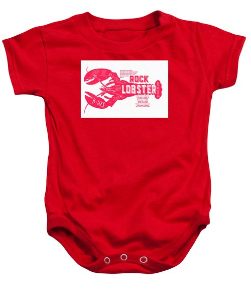 B-52s Rock Lobster Lyric Poster Baby Onesie by Edward Fielding