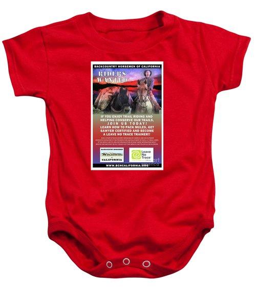 Backcountry Horsemen Join Us Poster II Baby Onesie