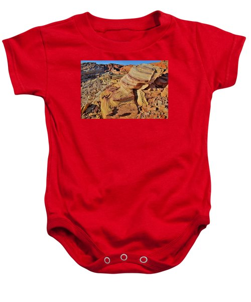 Bands Of Colorful Sandstone In Valley Of Fire Baby Onesie
