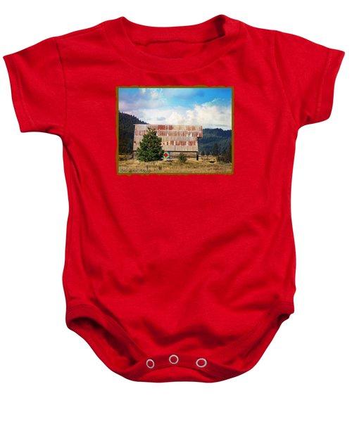 Barn Quilt Americana Baby Onesie