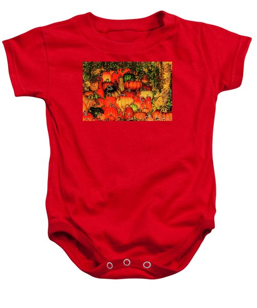 Beautiful Glass Pumpkins Baby Onesie