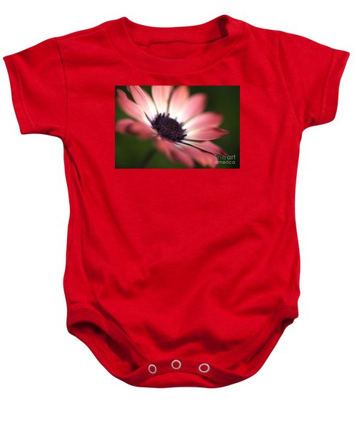 Beautiful Rich African Daisy Zion Red Flower Baby Onesie