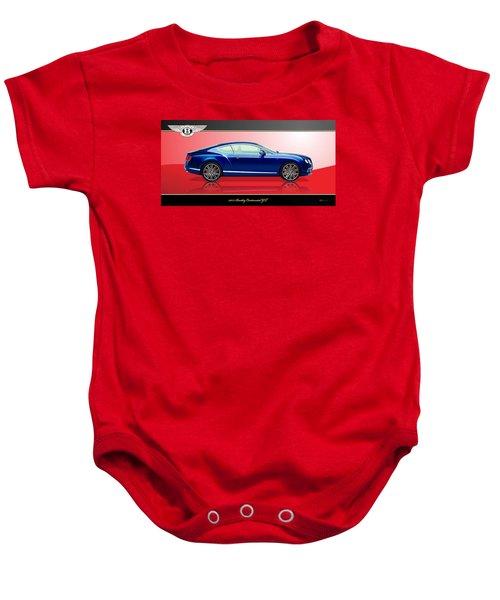 Bentley Continental Gt With 3d Badge Baby Onesie