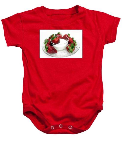 Berries And Cream Baby Onesie