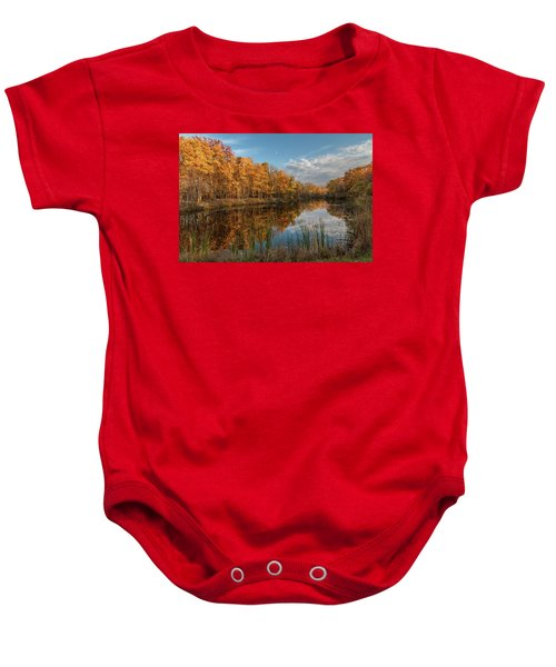 Beyer's Pond In Autumn Baby Onesie
