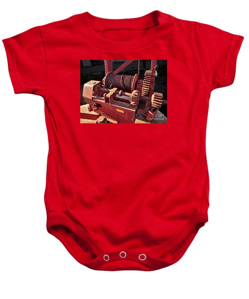 Baby Onesie featuring the photograph Big Red Winch by Stephen Mitchell