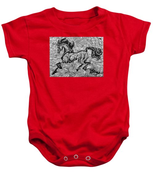 Black Jack Black And White Baby Onesie