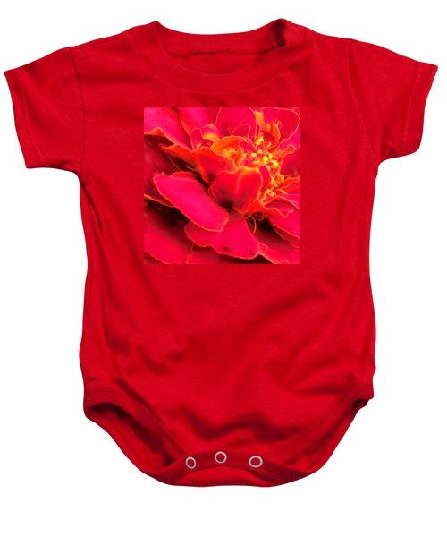 Blazing Pink Marigold Baby Onesie