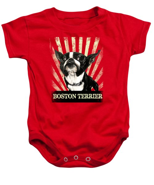 Boston Terrier Revolution Baby Onesie