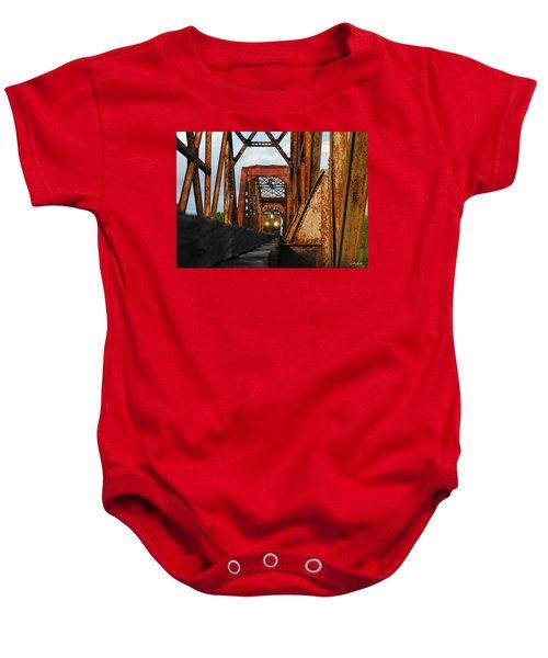 Brazos River Railroad Bridge Baby Onesie