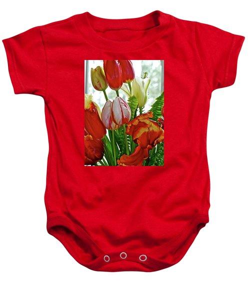 Bright Bouquet Baby Onesie